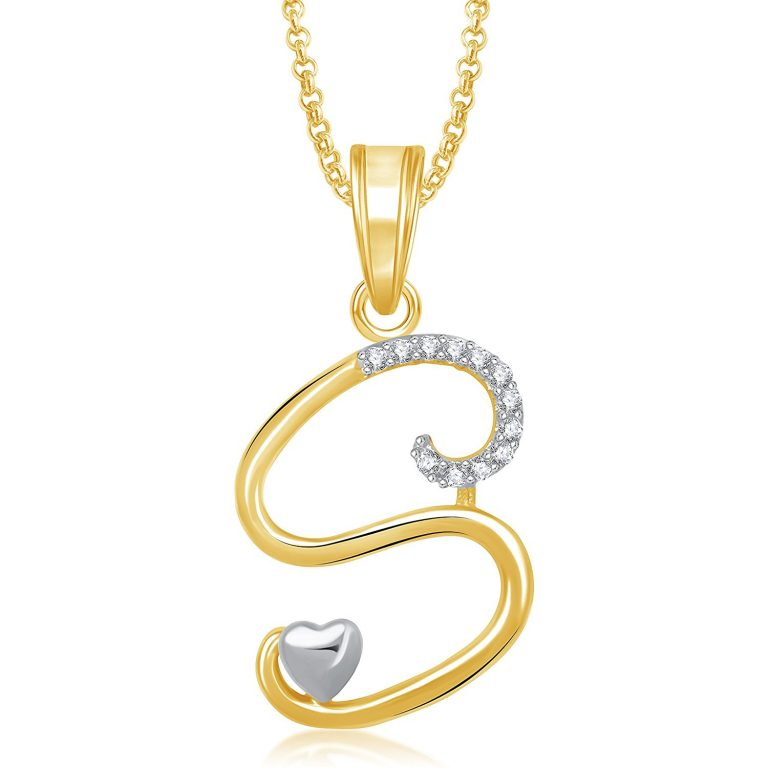 Amazon India : MEENAZ Crystal Brass Gold Plated Pendant Necklace For Women at Rs.172