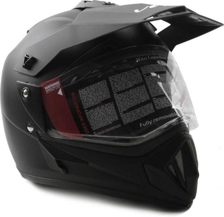 Flipkart : VEGA Off Road D/V Motorsports Helmet (Black) at Rs.1844