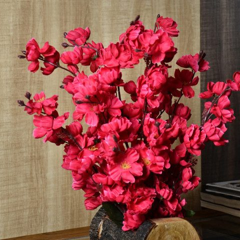 Myntra : fancy mart Red Artificial Blossom Plant with Pot at Rs.476