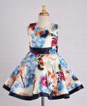 Firstcry : Maalka Printed Sleeves Dress - Blue at Rs.691.60