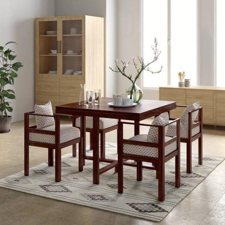 Flipkart : Perfect Homes PureWood Sheesham 4 Seater Dining Set  (Finish Color - Teak) at Rs.21599