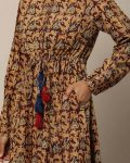 Ajio : Handblock Print Kalamkari Cotton A-line Dress at Rs.1759