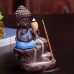 Snapdeal : Angels Store Monk Buddha Smoke Backflow Cone Incense Holder Decorative Showpiece(Blue) at Rs.249