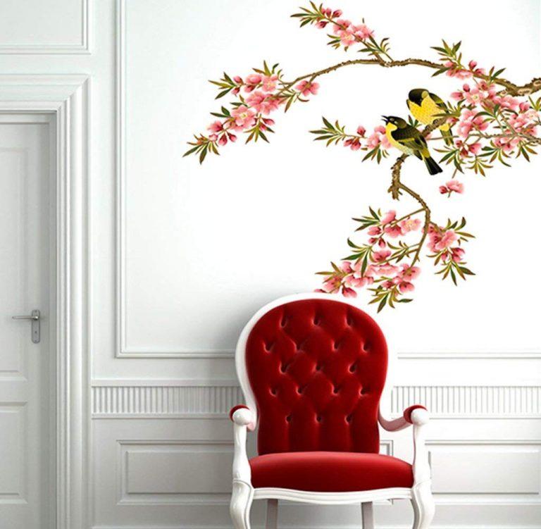 Amazon India : Decals Design 'Cute Birds Sitting on Flower Branch' Wall Sticker (PVC Vinyl, 50 cm x 70 cm x 1 cm) at Rs.109
