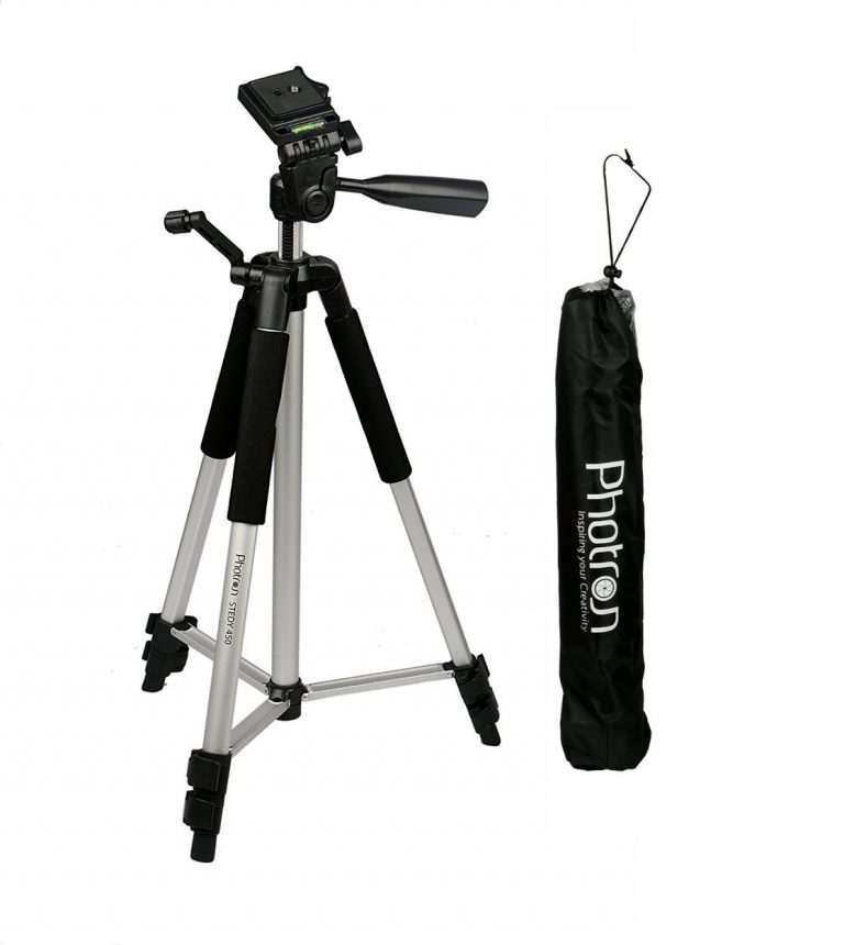 Amazon India : Photron Tripod Stedy 450 with 4.5 Feet Pan Head + Extra Quick Release Plate + Foam Grip + Carry Case at Rs.701