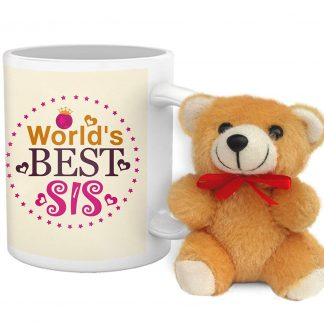 Amazon India : TiedRibbons® Gift Ideas for Sister Coffee Mug 325ml and Cute Teddy at Rs.311