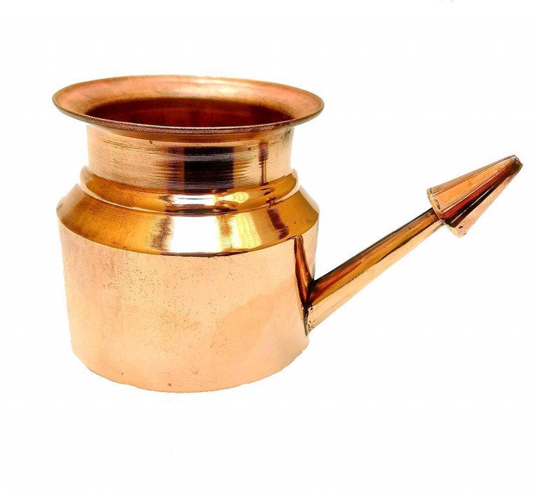 Amazon India : Frabjous Pure Copper Jala Neti Pot For Sinus Irrigation - 350 Ml at Rs.320