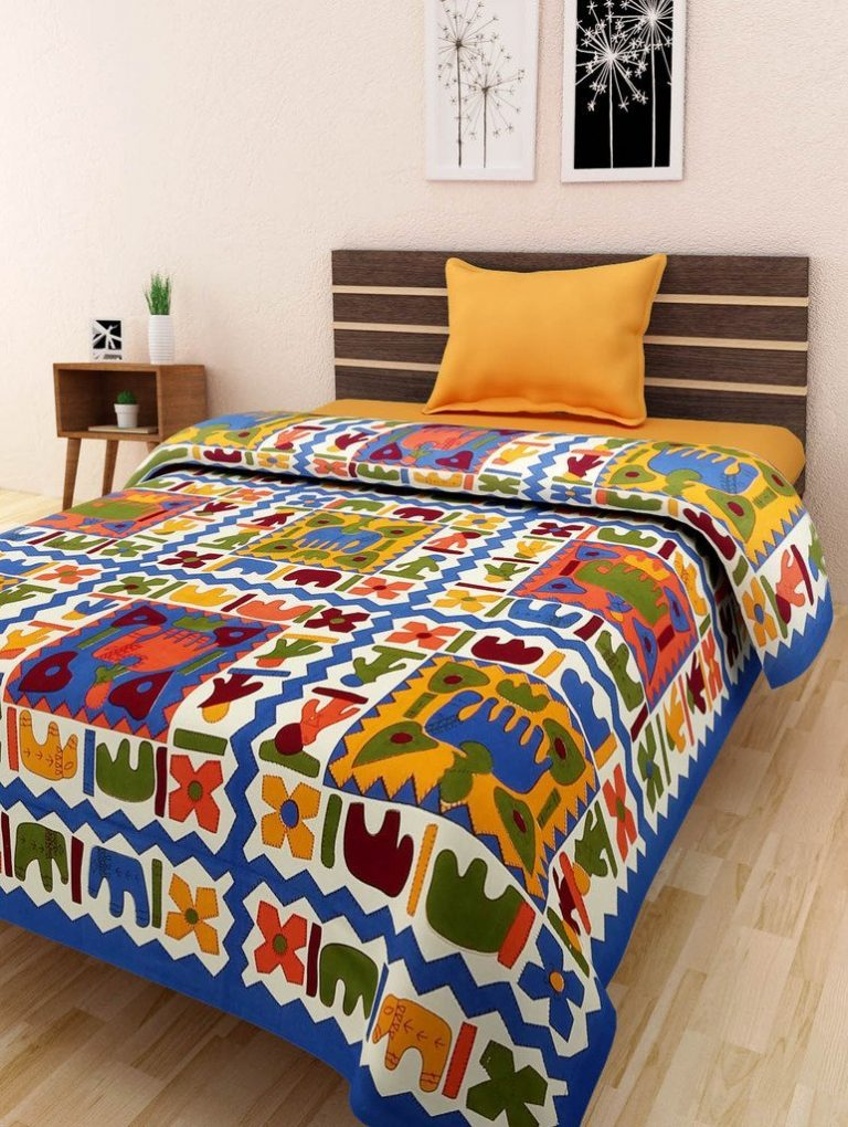 Amazon India : Bombay Spreads Multi Color 100% Pure Cotton Single Bed Sheet at Rs.296