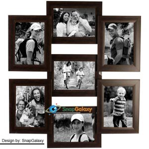 Pepperfry : Black Synthetic Wood 4 x 6 Inch Photo Frame Collage by Snap Galaxy at Rs.2119