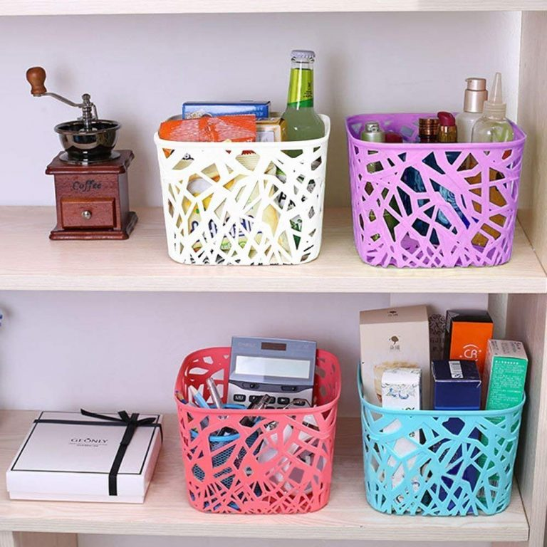 Amazon India : Absales 4 Pieces Nice Design Plastic Storage Basket at Rs.509