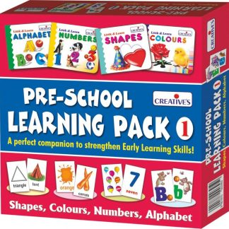 Amazon India : Creative Education Pre-School Learning, Pack 1 (Shapes, Colours, Numbers and Alphabet) at Rs.219