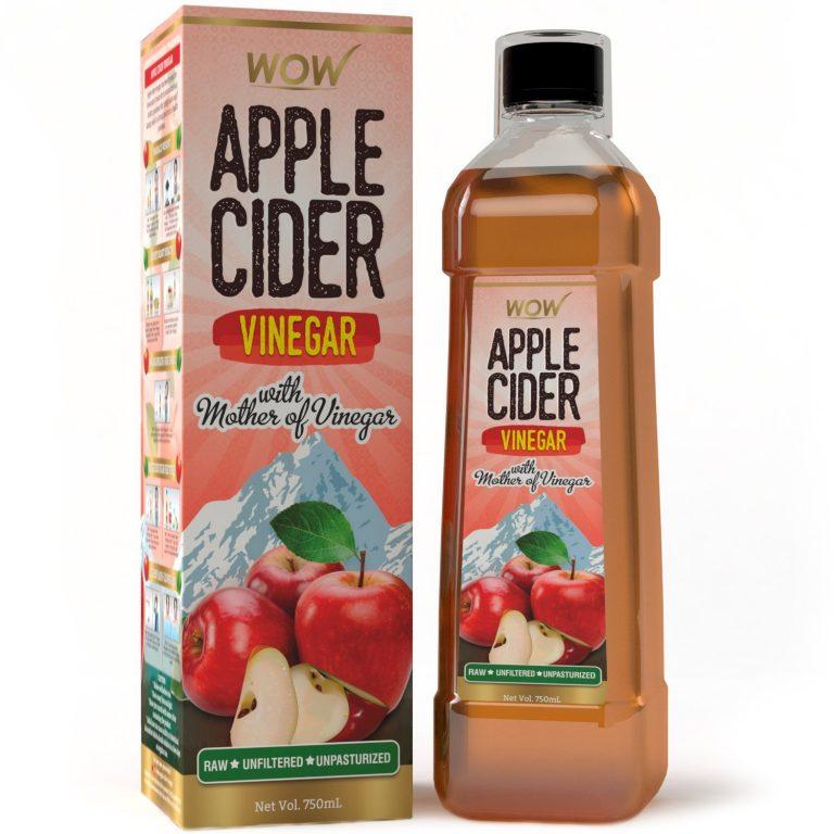 Amazon India : WOW Raw Apple Cider Vinegar - 750 ml at Rs.259