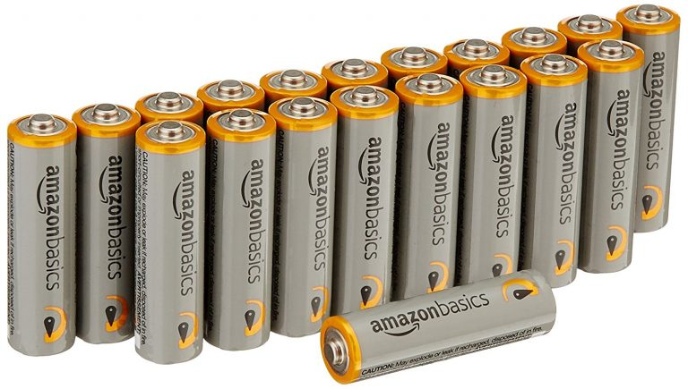 Amazon India : AmazonBasics AA Performance Alkaline Non-Rechargeable Batteries (20-Pack) at Rs.479