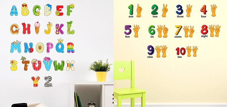 Amazon India : Luke and Lilly PVC Vinyl Alphabet and Numbers for Kids Wall Sticker - Pack of 2 at Rs.399