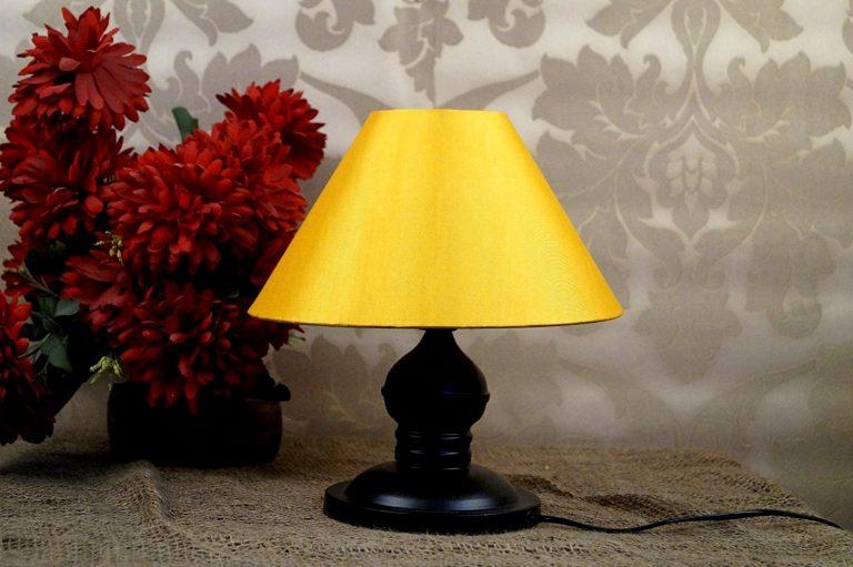 Amazon India : Tucasa LG-196 Conical Shade Table Lamp (Yellow) at Rs.555