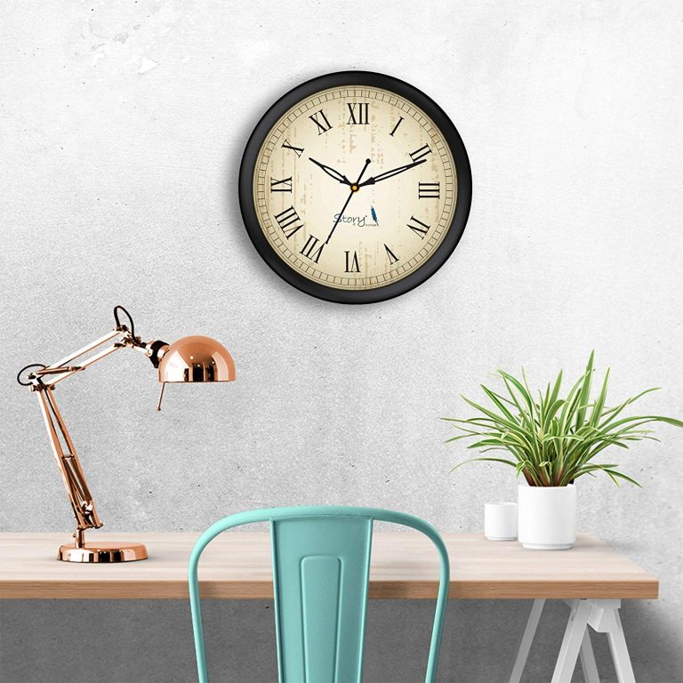 Amazon India : Story@Home Round Plastic Wall Clock at Rs.470