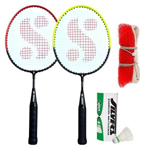 Amazon India : Silver's Kids SIL-Pedal Combo-6 Aluminum Badminton Set at Rs.299