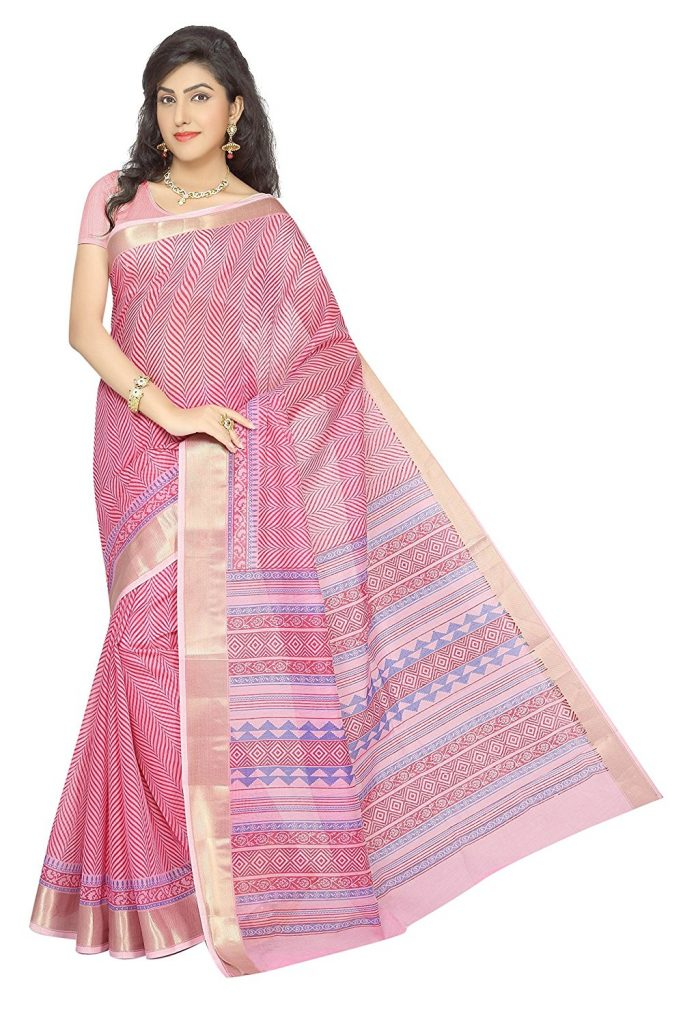 Amazon India : Rani Saahiba Cotton Saree With Blouse Piece at Rs.699