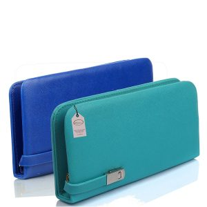 Amazon India : Mammon Blue Leather Women's Wallet Combo at Rs.379