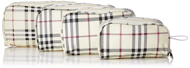 Amazon India : Kuber Industries Multicolor Fabric Travelling Kit Box Set of 4 Pcs at Rs.449