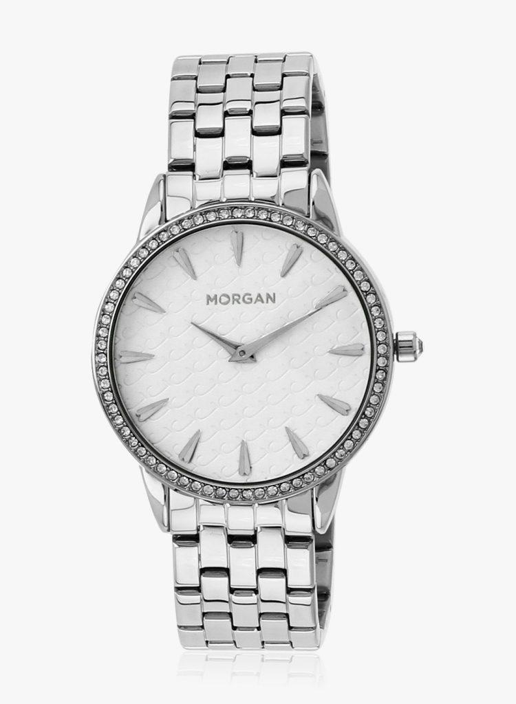 Jabong : Morgan M1190sm Silver/White Analog Watch at Rs.2639
