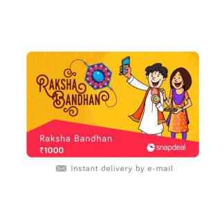 Snapdeal : Snapdeal Raksha Bandhan E-Gift Card at Rs.1000