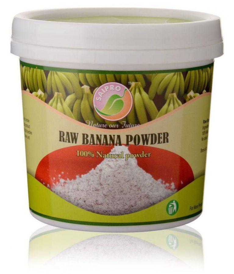 Snapdeal : SAIPRO Raw Banana Powder (Green / Unripe Banana) Powder 400 gm at Rs.320