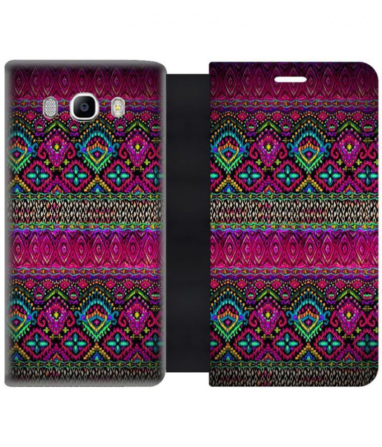 the latest 51d48 38a12 Snapdeal : Samsung Galaxy On8 Flip Cover by Skintice - Multi at Rs.374 -