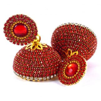 Snapdeal : Silk Thread Jhumka-Drop Earring Red Glossy Finish Stoned Earrings at Rs.325