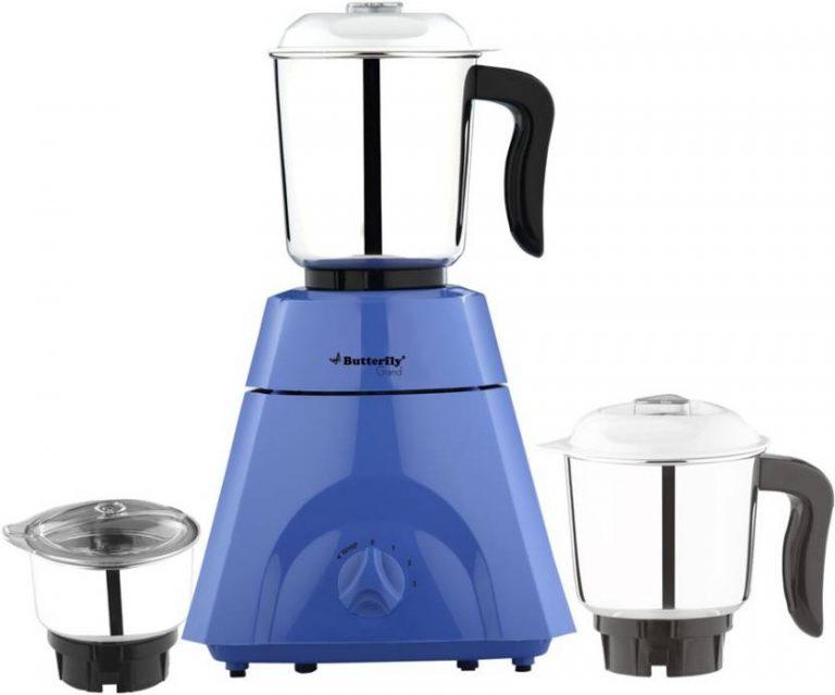 Flipkart : Butterfly 500 Watts Grand 500 W Mixer Grinder  (Blue, 3 Jars) at Rs.2274