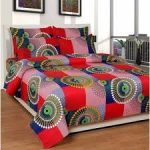 Shopclues : Reet Textile 3D Printed 1 Double Bed Sheet, 2 Pillow Cover at Rs.349