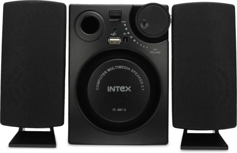 Flipkart: Intex IT-881 U 16 W Laptop/Desktop Speaker  (Black, 2.1 Channel) @Rs.999