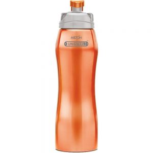 Amazon India : Milton Hawk Stainless Steel Water Bottle, 750ml, Orange at RS.302