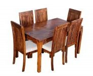 Amazon India : CK Handicraft Teak Finished Solid Sheesham Wood Six Seater Dining Table Set at Rs.34199