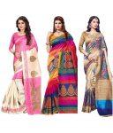 Snapdeal : SHREE RAJLAXMI SAREES Multicoloured Cotton Silk Saree Combos at Rs.1264