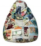 Pepperfry : Classic Bean Bag Cover in Travel Print Colour by Sattva at Rs.1891