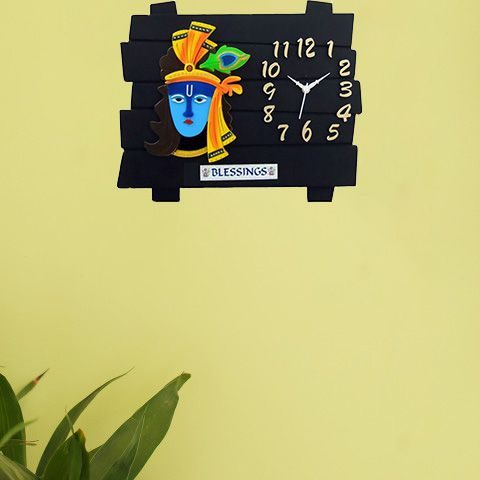 Snapdeal : Ravishing Lord Krishna Design Rectangular Analog Wall Clock at Rs.499