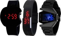 Flipkart : blutech new stylish 3 digital combo watches for kids at Rs.331
