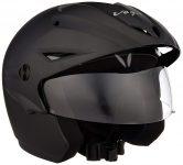 Amazon India : Vega Cruiser CR-W/P-DK-M Open Face Helmet with Peak (Dull Black, M)