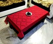 Flipkart : LooMantha Geometric 4 Seater Table Cover  (Red, Cotton) at Rs.195