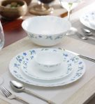 Pepperfry : Diva Juniper Blue Opalware Dinner Set - Set of 19 by La Opala