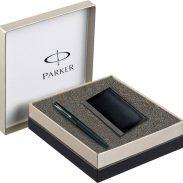 Flipkart : Parker Frontier Matte Black CT with Card Holder Pen Gift Set
