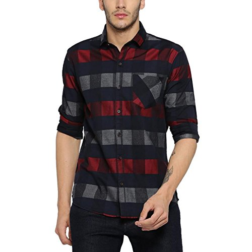 Amazon India : Campus Sutra Men's Checkered Casual Shirts