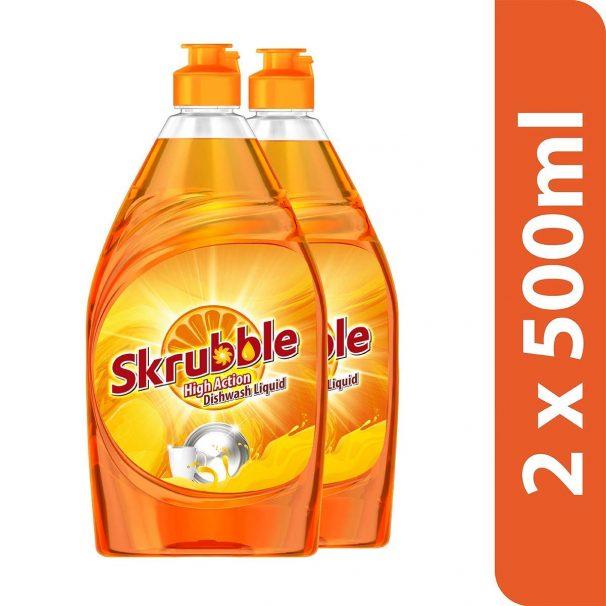 Amazon India : Skrubble High Action Dish Wash Liquid - 500 ml (Pack of 2)