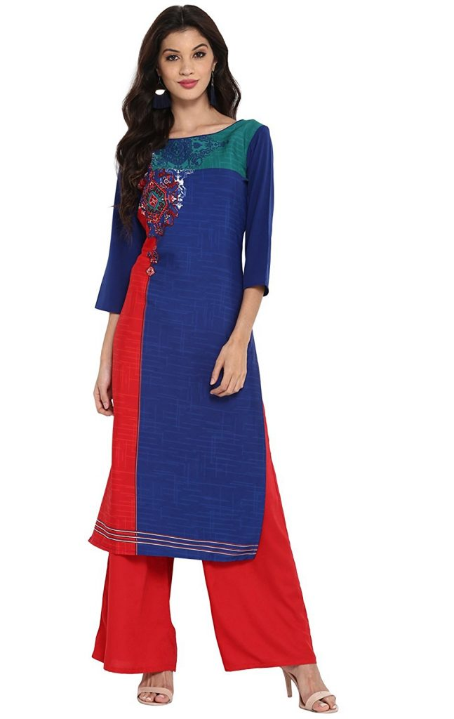 Amazon India : 75% Off on Vaamsi Women's Straight Kurtas