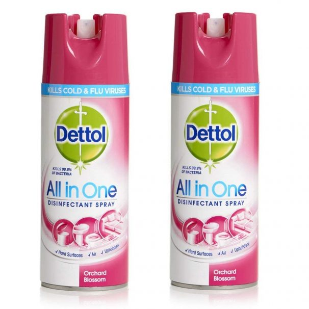 Amazon India : Dettol Disinfectant Spray - 400 ml (Orchard Blossom) Pack Of 2
