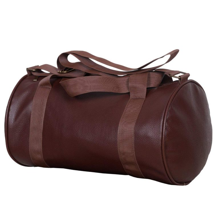 Amazon India : Dee Mannequin 2211 Leather Gym Bag (Brown)