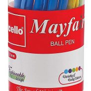 Amazon India : Cello Mayfair Ball Point Pen Set - Pack of 25 (Blue)