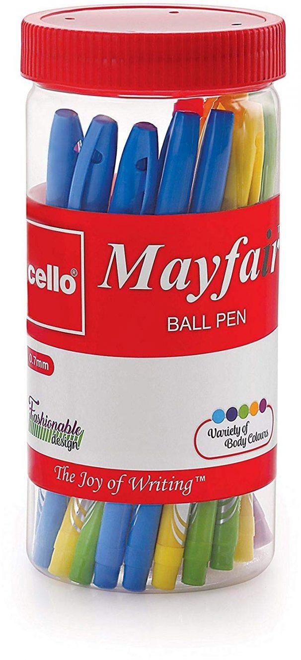 Amazon India : Cello Mayfair Ball Point Pen Set - Pack of 25 (Blue)