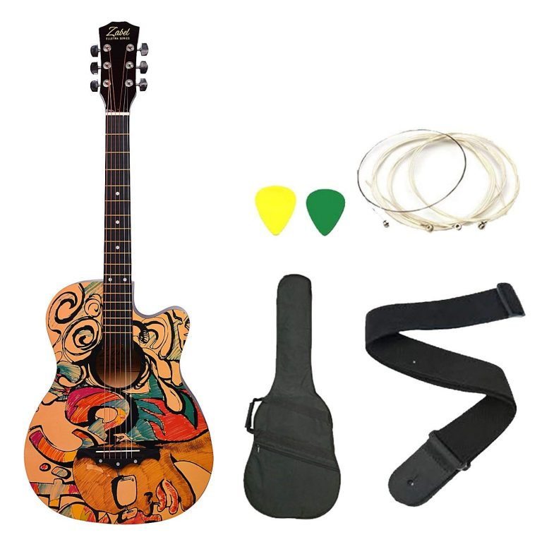 Amazon India : Zabel Zbtr09 Acoustic Guitar With Truss Rod Combo With Bag, Strap, One Pack Strings And 3 Picks